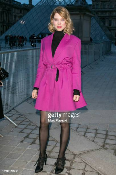Actress Lea Seydoux attends the Louis Vuitton show as part of the Paris Fashion Week Womenswear Fall/Winter 2018/2019 on March 6 2018 in Paris France