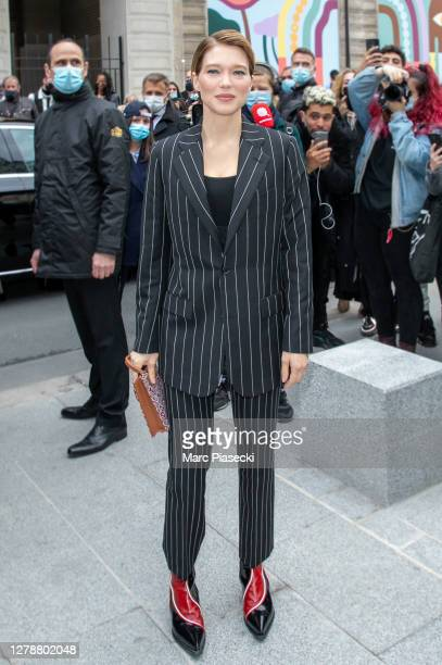 Actress Lea Seydoux attends the Louis Vuitton Womenswear Spring/Summer 2021 show as part of Paris Fashion Week on October 06, 2020 in Paris, France.