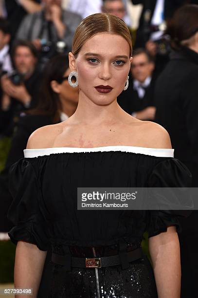Actress Lea Seydoux attends the 'Manus x Machina Fashion In An Age Of Technology' Costume Institute Gala at Metropolitan Museum of Art on May 2 2016...