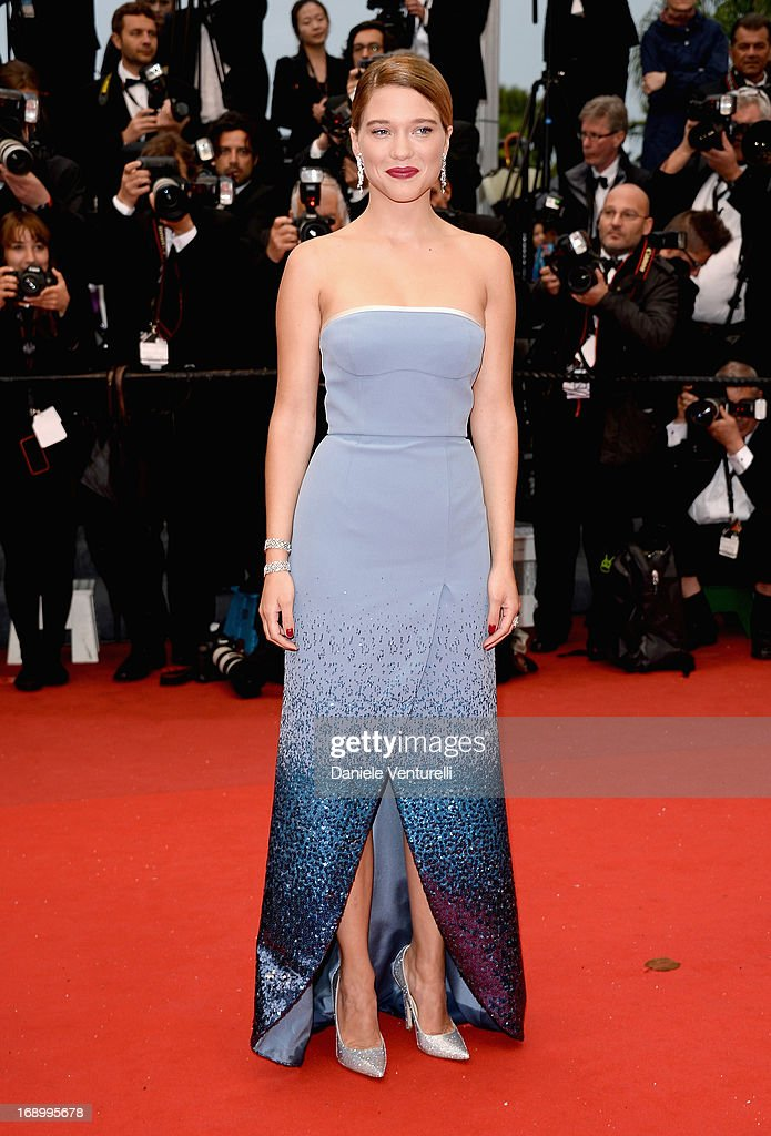 Actress Lea Seydoux attends the Premiere of 'Grand Central' at Palais des Festivals during The 66th Annual Cannes Film Festival on May 18, 2013 in Cannes, France.