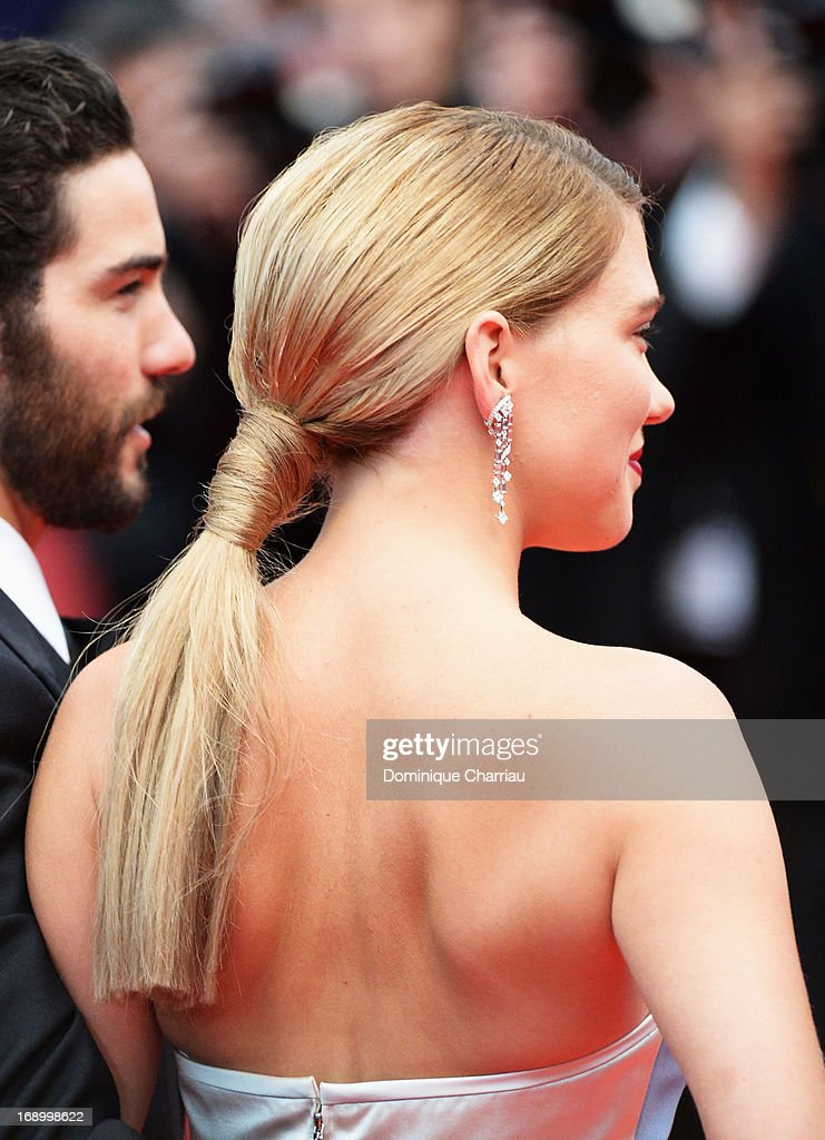 Actress Lea Seydoux attends the Premiere of 'Grand Central' at The 66th Annual Cannes Film Festival at the Palais des Festival on May 18, 2013 in Cannes, France.