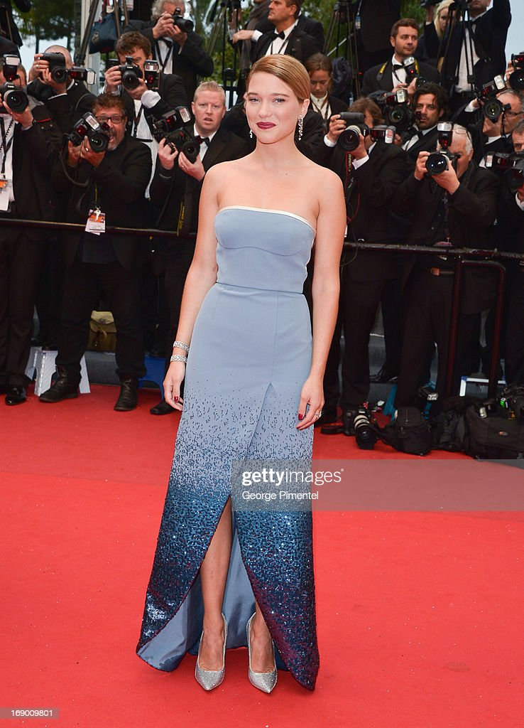 Actress Lea Seydoux attends the Premiere of 'Grand Central' at The 66th Annual Cannes Film Festival on May 18, 2013 in Cannes, France.