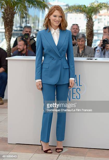 Actress Lea Seydoux attends the Saint Laurent photocall at the 67th Annual Cannes Film Festival on May 17 2014 in Cannes France