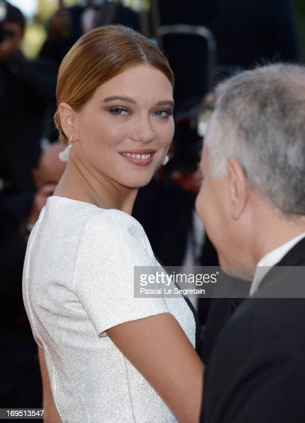 Actress Lea Seydoux attends the 'Zulu' Premiere and Closing Ceremony during the 66th Annual Cannes Film Festival at the Palais des Festivals on May...