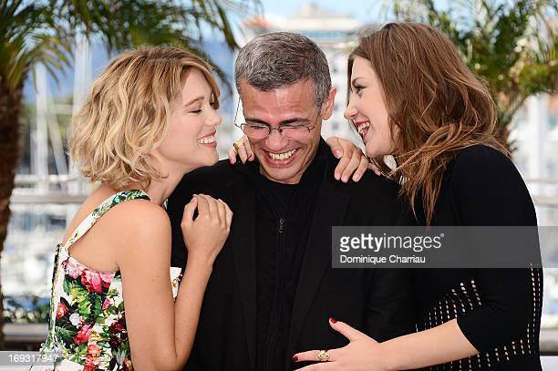 Actress Lea Seydoux director Abdellatif Kechiche and Adele Exarchopoulos attend the photocall for 'La Vie D'Adele' during the 66th Annual Cannes Film...