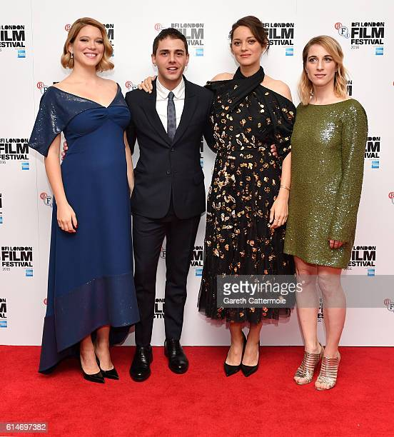 Actress Lea Seydoux director Xavier Dolan actress Marion Cotillard and producer Nancy Grant attend the 'It's Only The End Of The World' BFI Flare...