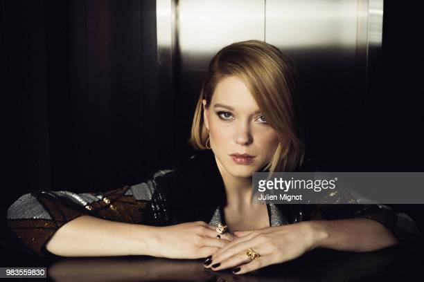 Actress Lea Seydoux is photographed for Grazia Daily, on May, 2018 in Cannes, France. . .