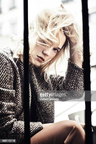 Actress Lea Seydoux is photographed for Paris Match on March 18 2015 in Paris France