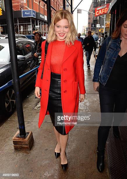 Actress Lea Seydoux is seen in walking in Soho on November 5 2015 in New York City