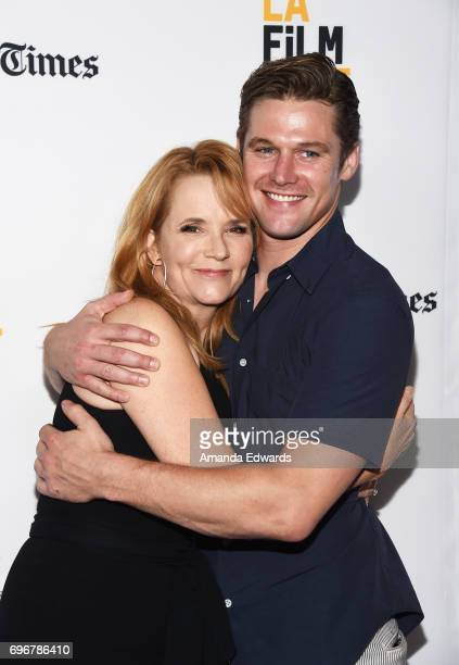 Actress Lea Thompson and actor Zach Roerig attend the 2017 Los Angeles Film Festival premiere of 'The Year Of Spectacular Men' at ArcLight Santa...