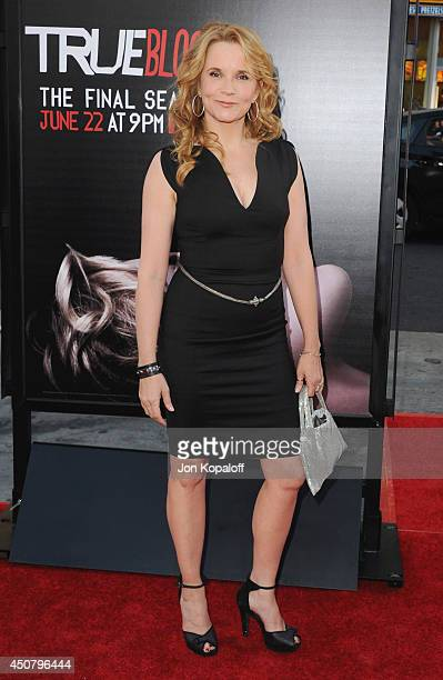 """Actress Lea Thompson arrives at HBO's """"True Blood"""" Final Season Premiere at TCL Chinese Theatre on June 17, 2014 in Hollywood, California."""