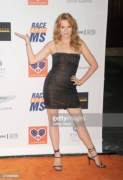 Actress Lea Thompson arrives at the 22nd Annual Race To Erase MS at the Hyatt Regency Century Plaza on April 24 2015 in Century City California