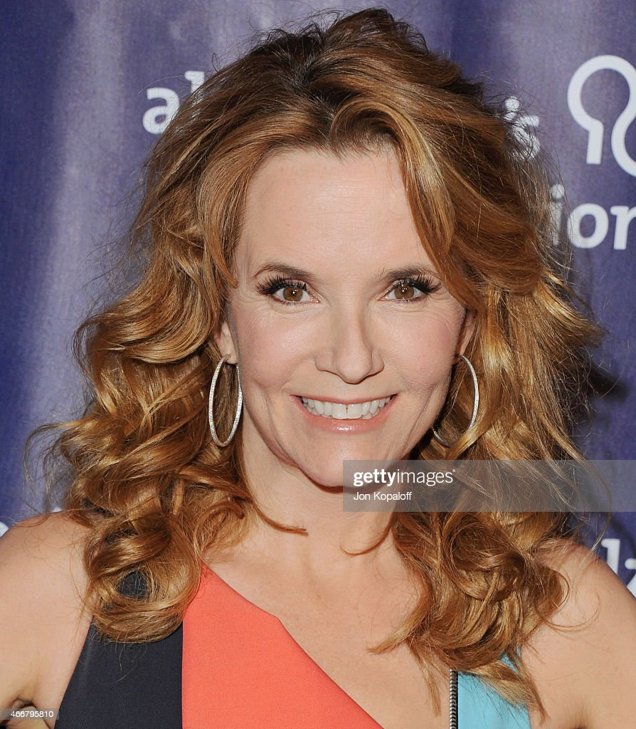 Actress Lea Thompson arrives at the 23rd Annual 'A Night At Sardi's' To Benefit The Alzheimer's Association at The Beverly Hilton Hotel on March 18, 2015 in Beverly Hills, California.