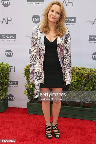 Actress Lea Thompson arrives at the American Film Institute's 44th Life Achievement Award Gala Tribute to John Williams at Dolby Theatre on June 9,...