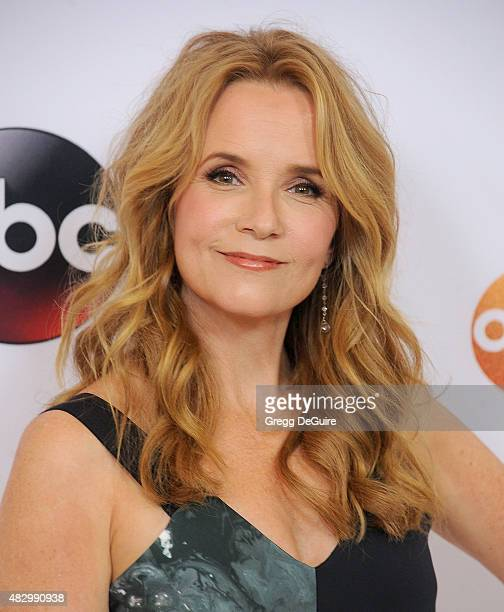 Actress Lea Thompson arrives at the Disney ABC Television Group's 2015 TCA Summer Press Tour on August 4 2015 in Beverly Hills California