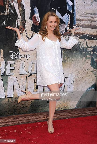 Actress Lea Thompson arrives at 'The Lone Ranger' World Premiere at Disney's California Adventure on June 22 2013 in Anaheim California