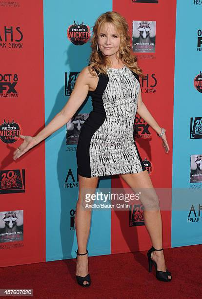 Actress Lea Thompson arrives at the Los Angeles premiere of 'American Horror Story Freak Show' at TCL Chinese Theatre IMAX on October 5 2014 in...