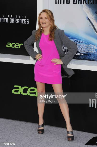 Actress Lea Thompson arrives at the Los Angeles premiere of 'Star Trek Into Darkness' at Dolby Theatre on May 14 2013 in Hollywood California