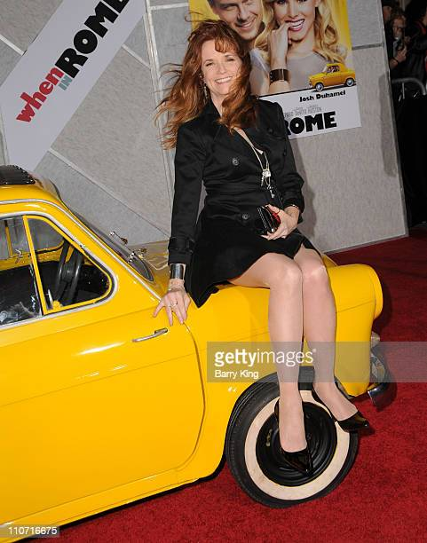Actress Lea Thompson arrives to the Los Angeles premiere of 'When In Rome' held at the El Capitan Theatre on January 27 2010 in Hollywood California