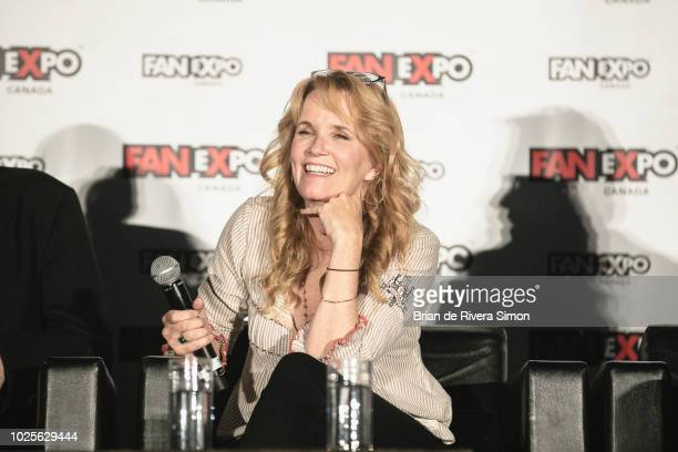 """Actress Lea Thompson attends An Evening With the Cast of """"Back To The Future"""" at the Metro Toronto Convention Centre on August 31, 2018 in Toronto,..."""