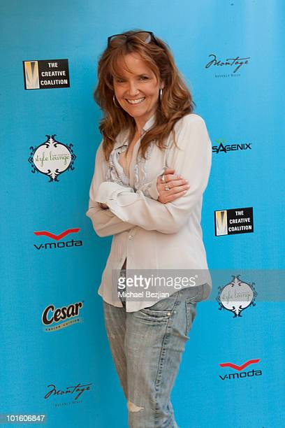 Actress Lea Thompson attends Kari Feinstein MTV Movie Awards Style Lounge Day 1 at Montage Beverly Hills on June 3 2010 in Beverly Hills California