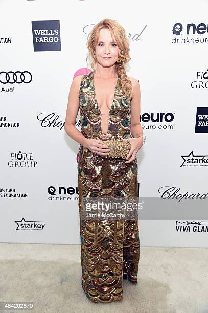 Actress Lea Thompson attends the 23rd Annual Elton John AIDS Foundation Academy Awards Viewing Party on February 22 2015 in Los Angeles California