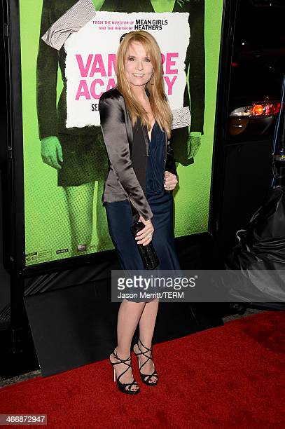 """Actress Lea Thompson attends the premiere of The Weinstein Company's """"Vampire Academy"""" at Regal Cinemas L.A. Live on February 4, 2014 in Los Angeles,..."""