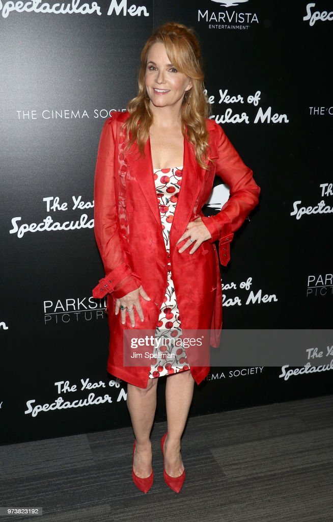 Actress Lea Thompson attends the screening of 'The Year Of Spectacular Men' hosted by MarVista Entertainment and Parkside Pictures with The Cinema Society at The Landmark at 57 West on June 13, 2018 in New York City.