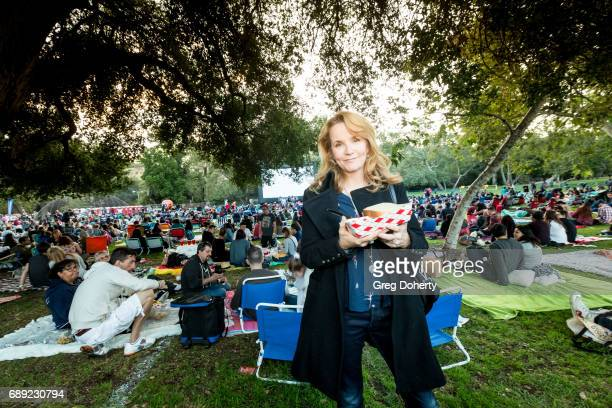 Actress Lea Thompson attends the Street Food Cinema Welcomes 'Back To The Future' With Special Guest Lea Thompson at Verdugo Park on May 27 2017 in...