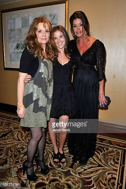 Actress Lea Thompson, daughter Zoey Deutch and Janice Dickinson visit Windows Phone at the 18th Annual Race to Erase MS event co-chaired by Nancy...