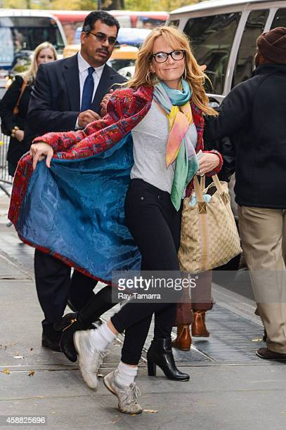 Actress Lea Thompson leaves the View taping at the ABC Lincoln Center Studios on November 11 2014 in New York City