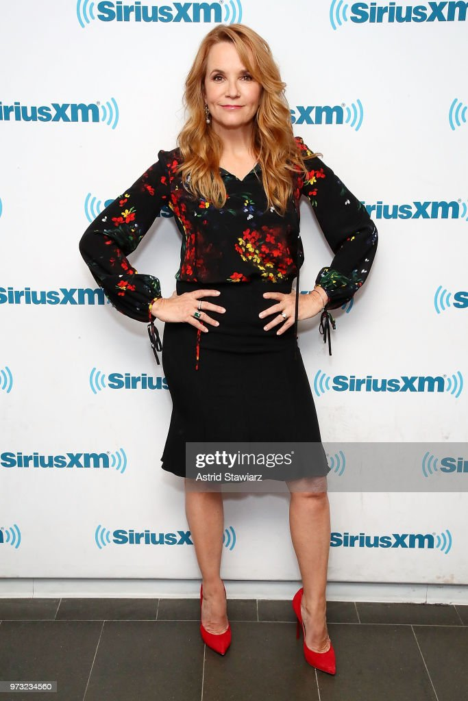 Actress Lea Thompson visits the SiriusXM Studios on June 13, 2018 in New York City.