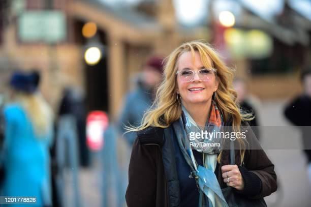 Actress Lea Thompson walks on Main Street on January 24 2020 in Park City Utah