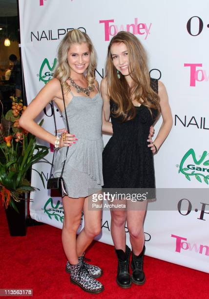 Actress Leah Clark and Nathalia Ramos arrive at the Nail Garden Brentwood opening party 2nd annual Beauty For A Cause spring toy drive at Nail Garden...