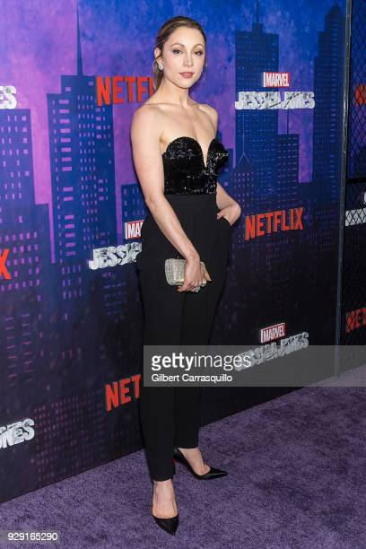 Actress Leah Gibson attends Netflix's 'Marvel's Jessica Jones' Season 2 Premiere at AMC Loews Lincoln Square on March 7 2018 in New York City