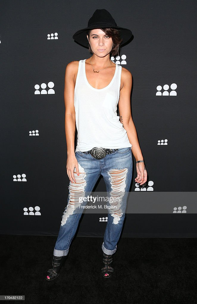 Actress Leah LaBelle attends the Myspace Event at the El Rey Theatre on June 12, 2013 in Los Angeles, California.
