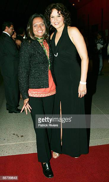 Actress Leah Purcell and Singer Kerrianne Cox attend the 2005 Deadly Awards at the Opera House on September 22 2005 in Sydney AustraliaThe Deadly...