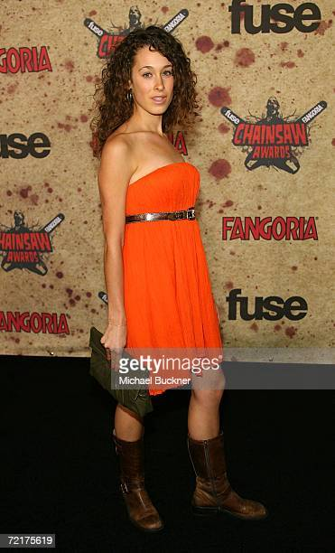 Actress Leah Rachel attends the fuse Fangoria Chainsaw Awards at the Orpheum Theater on October 15 2006 in Los Angeles California The awards will...