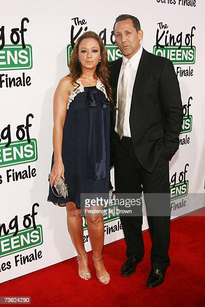 Actress Leah Remini and her guest attend 'The King of Queens' final season wrap party at Boulevard 3 on March 17 2007 in Hollywood California