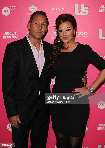 Actress Leah Remini and husband Angelo Pagan arrive at the Us Weekly Hot Hollywood Style Issue celebration held at Drai's Hollywood at the W...