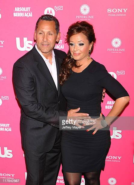 Actress Leah Remini and husband Angelo Pagan attend the Us Weekly Hot Hollywood Style Issue Event at Drai's Hollywood on April 22 2010 in Hollywood...