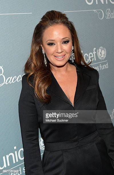 Actress Leah Remini attends the 2014 UNICEF Ball presented by Baccarat at the Beverly Wilshire Four Seasons Hotel on January 14 2014 in Beverly Hills...