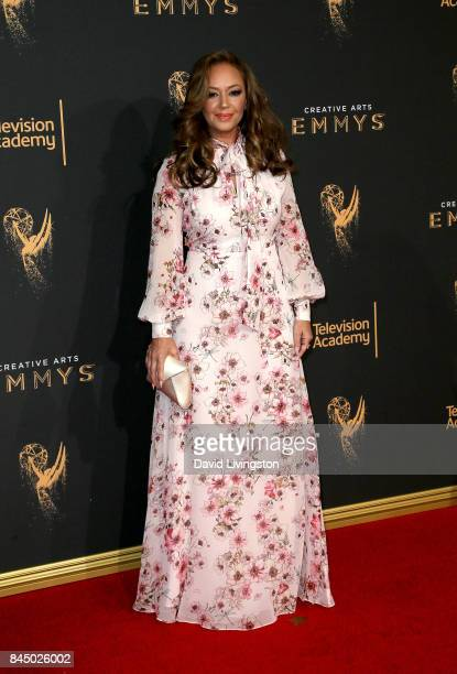 Actress Leah Remini attends the 2017 Creative Arts Emmy Awards at Microsoft Theater on September 9 2017 in Los Angeles California