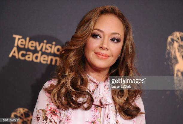 Actress Leah Remini attends the 2017 Creative Arts Emmy Awards at Microsoft Theater on September 9, 2017 in Los Angeles, California.