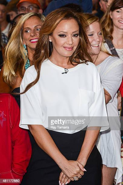 Actress Leah Remini enters the 'Good Morning America' taping at the ABC Times Square Studios on July 17 2015 in New York City