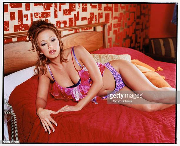 Actress Leah Remini is photographed for Entertainment Weekly Magazine in 2001 in Los Angeles California