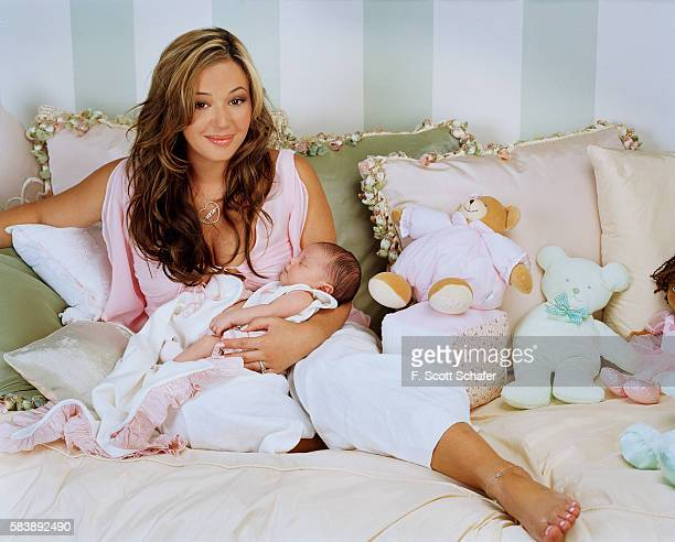 Actress Leah Remini is photographed with daughter Sofia Bella Pagan in 2004 in Los Angeles California