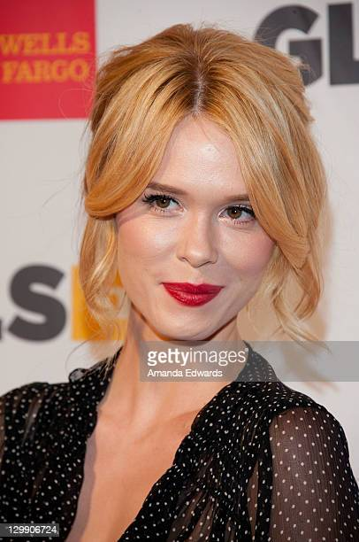 Actress Leah Renee arrives at the GLSEN Respect Awards at the Beverly Hills Hotel on October 21 2011 in Beverly Hills California
