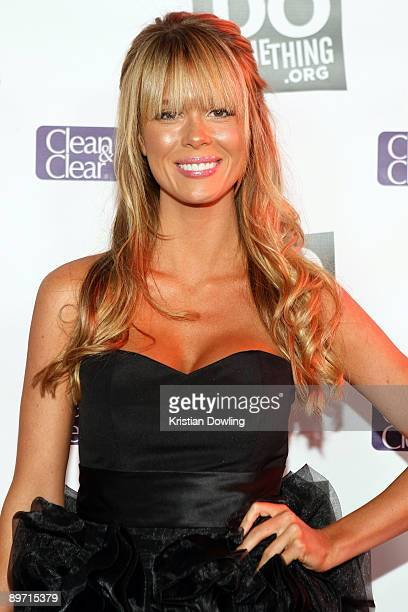 Actress Leah Renee arrives for the DoSomethingorg Celebrates The Power Of Youth party at Madame Tussauds Wax Museum on August 8 2009 in Hollywood...