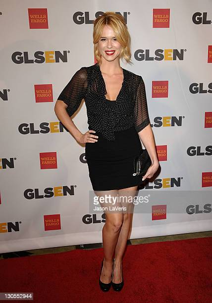 Actress Leah Renee attends the 7th Annual GLSEN Respect Awards at the Beverly Hills Hotel on October 21 2011 in Beverly Hills California